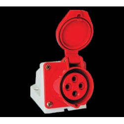 Prise industrielle fixe 3P+T, IP44, 400V AC, 16A à 125A, type HYPRA