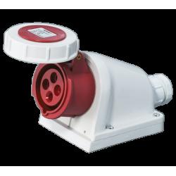 Prise industrielle fixe 3P+T, IP67, 400V AC, 16A à 125A, type HYPRA
