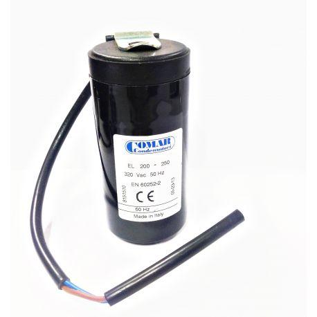 Condensateur démarrage 200µF 320V avec câble