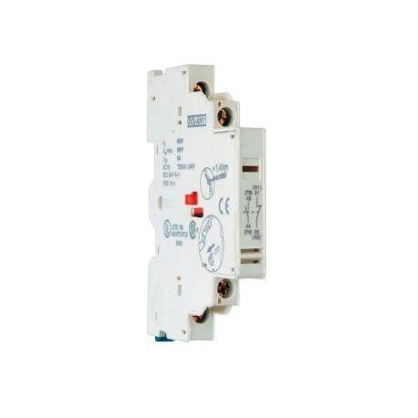 Bloc de contact aux. 1NO + 1NC Montage latéral pour disjoncteur moteur TM2