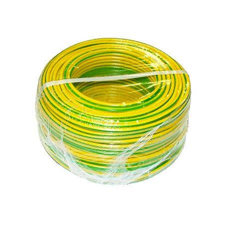 Fil électrique souple HO7V-K 10 MM² Vert/jaune C100M