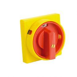 Plastron de sécurité cadenassable 96x96 - compatible interrupteur jusqu'à 63A