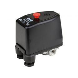Pressostat eau 230V et 380V - 3 à 12 bar avec bouton M/A et prise manomètre