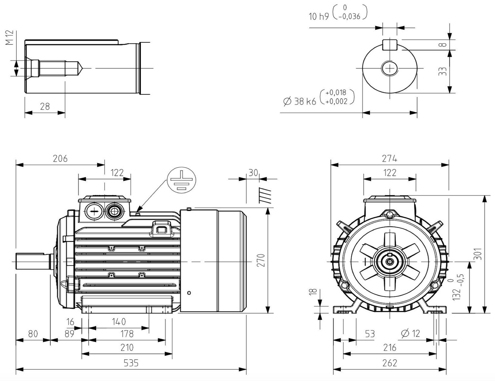moteur triphas u00e9 7 5 kw  1500 tr  min  b3  400  690v