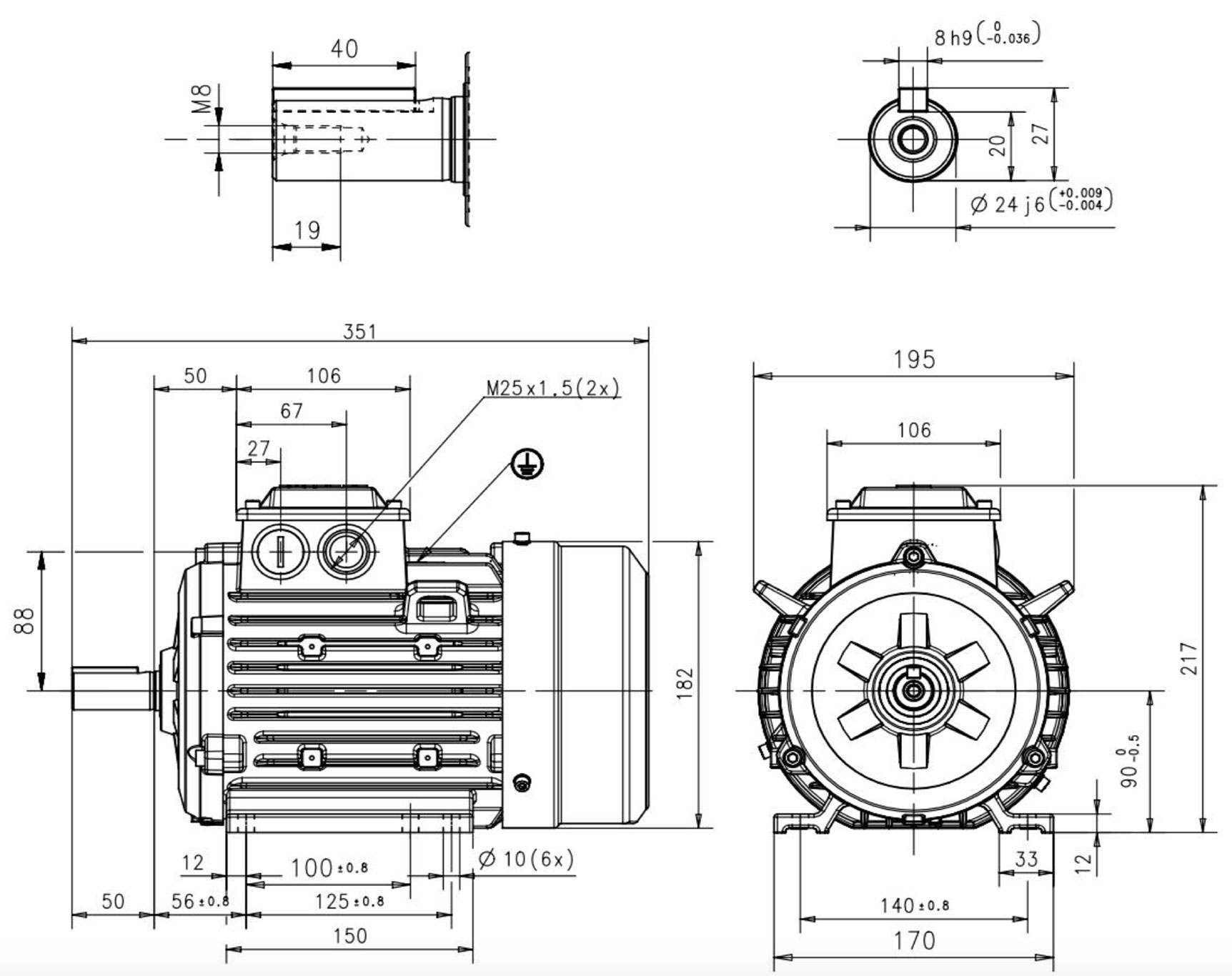 moteur triphas u00e9 1 5 kw  1500 tr  min  b3  400  690v