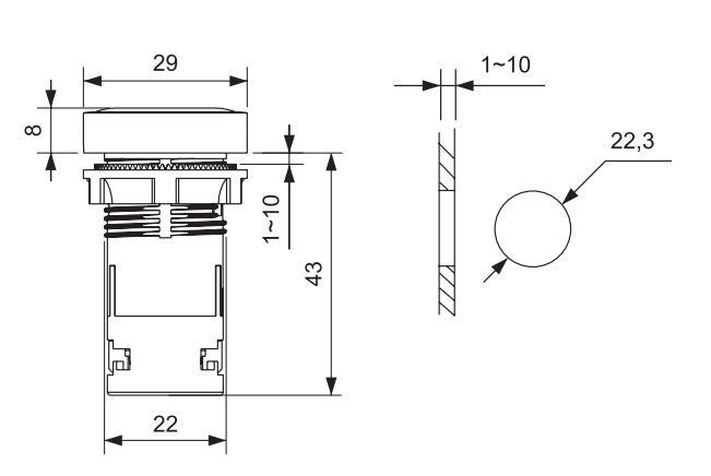 dimensions-bouton-poussoir