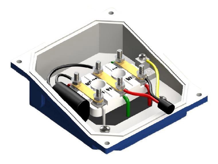 schéma de connexion monophasé 230V ventilation forcée