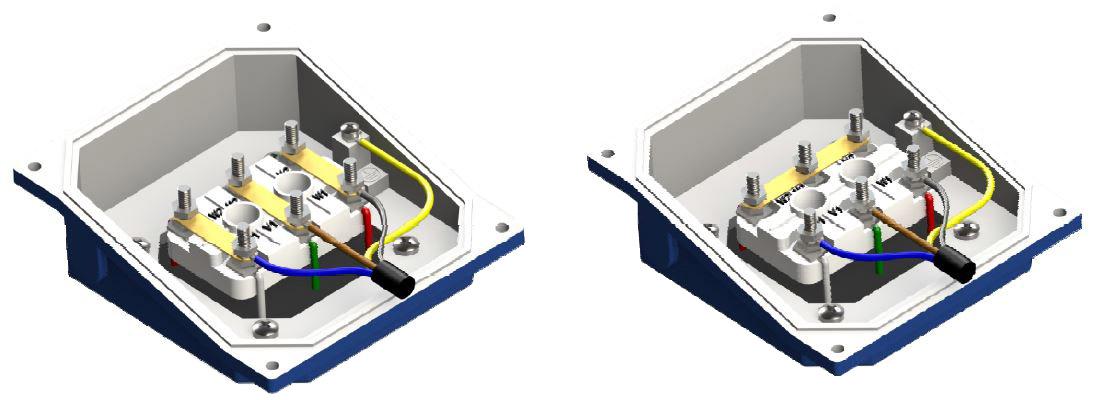schéma de connexion triphasé 230/400V ventilation forcée